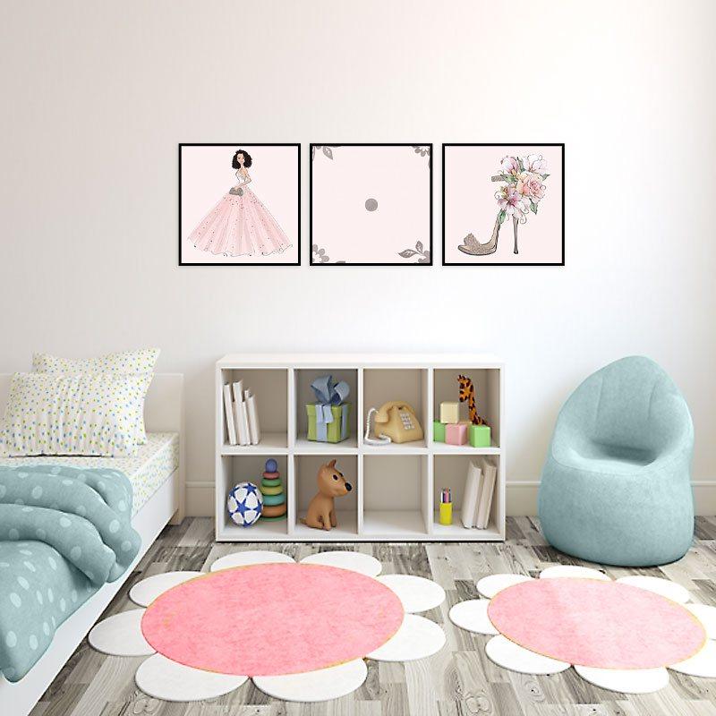 Plakat Do Pokoju Dziewczynki Z Dziewczyną W Sukience I Bucikiem