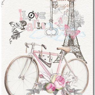 obraz z rowerem