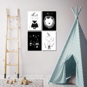 Plakaty dla dzieci skandynawskie