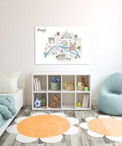kolorowe obrazy do pokoju malucha