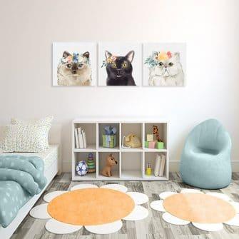 obrazy do pokoju dziecka z kotami