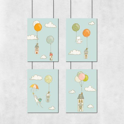 plakaty kolorowe z dekoracjami