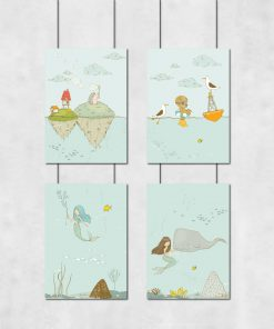 plakaty dziecięce ze zwierzętami