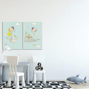 Obrazy dla dzieci niebieskie i granatowe
