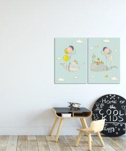 wieloryby latające na plakatach