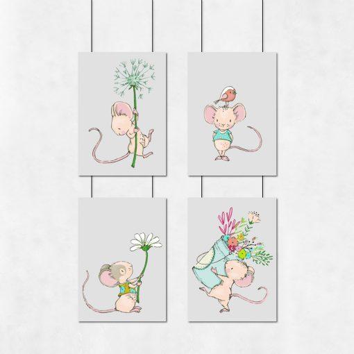 myszki na plakatach