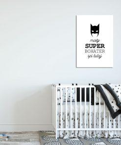 czarno-biały plakat do pokoju