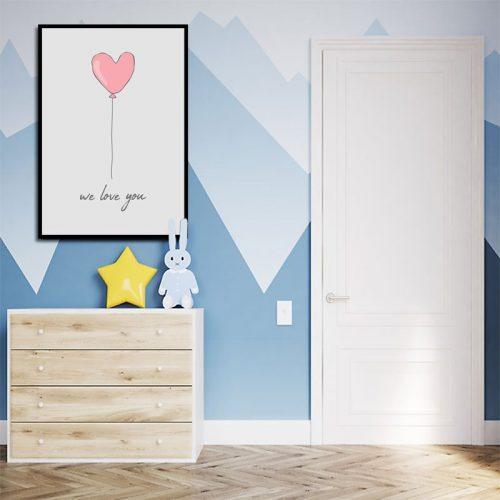 kształt serca na plakacie