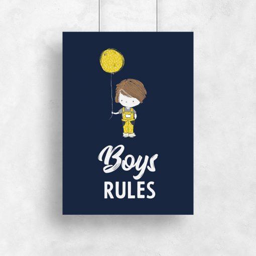 plakat dla chłopców