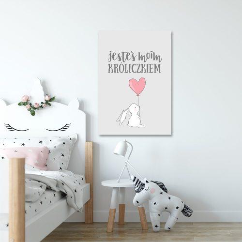 plakat skandynawski z królikiem