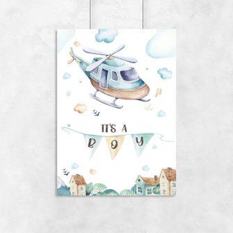 plakat dla chłopczyka