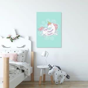 Plakaty dla dzieci miętowe i turkusowe