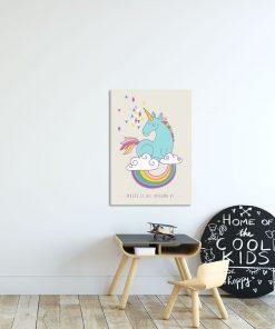 plakat z jednorożcem