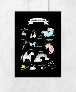 plakat z bajkowymi zwierzętami