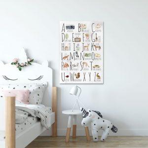 Plakaty dla dzieci alfabet, literki, tabliczki mnożenia