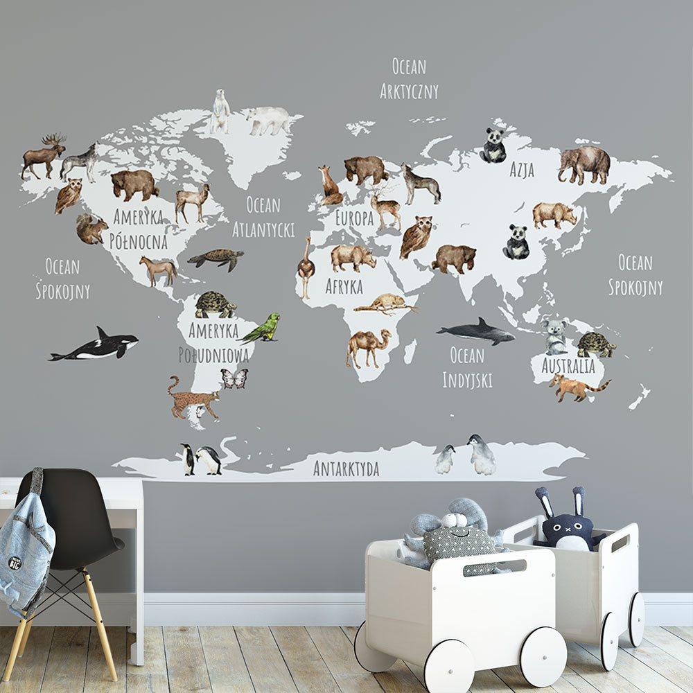 Fototapety dla dzieci mapy świata