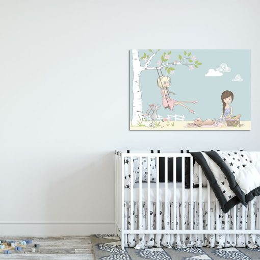 Niebieski obraz do pokoju dziecka