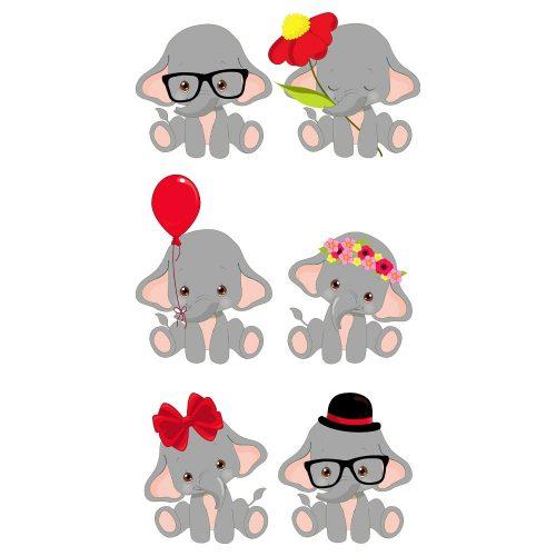 sześć słoni