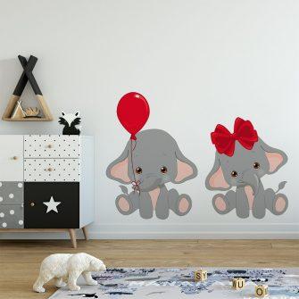 szare słoniki