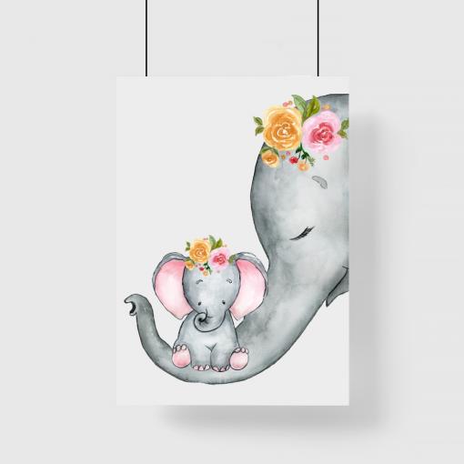plakat ze słoniami