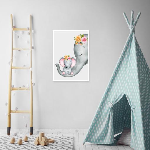 plakaty ze słonikami