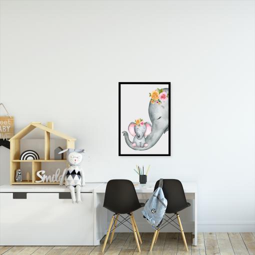 słonie na plakacie