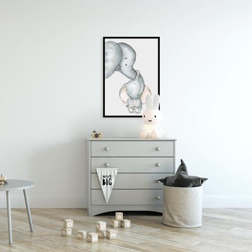 plakaty i słonie