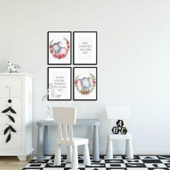 napis na plakatach ze słoniem