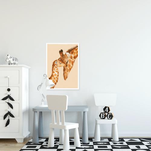 dwie żyrafy na plakacie