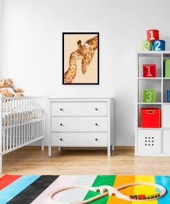żyrafy na plakacie