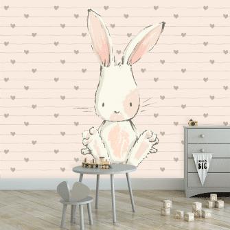 królik na tapecie