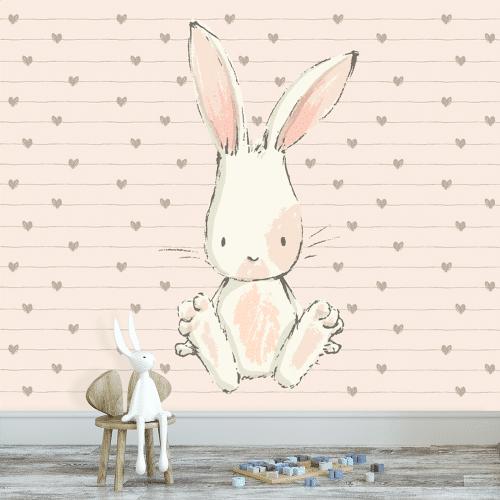 fototapeta z królikiem