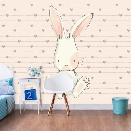motyw królika na tapecie