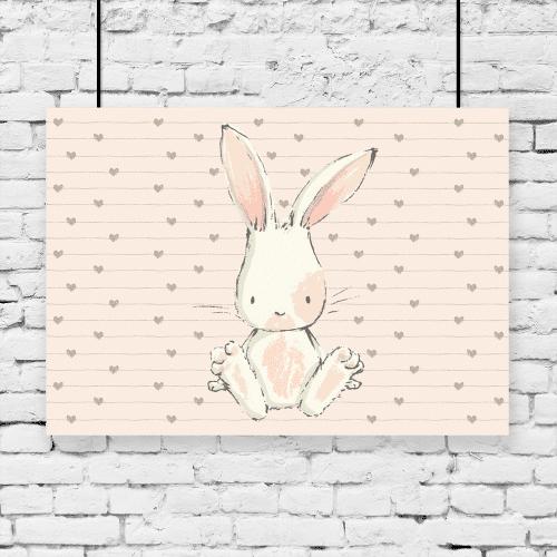 plakat z króliczkiem