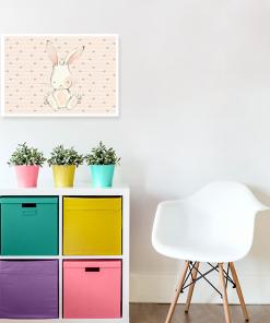 jasny plakat z króliczkiem