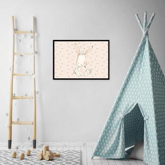 poziomy plakat z króliczkiem