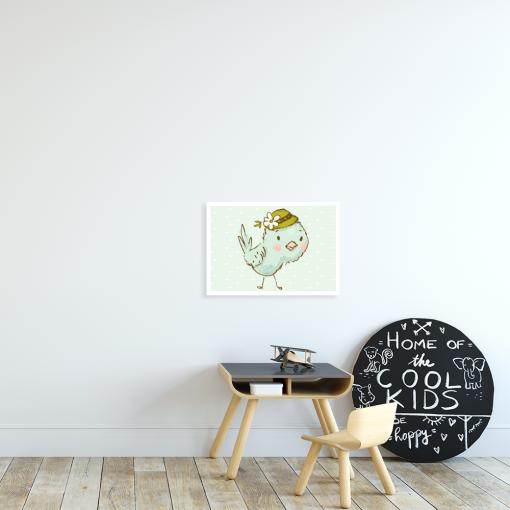 plakat z ptaszkiem dla dziecka
