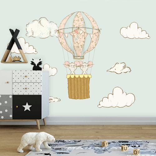 motyw myszek w balonie