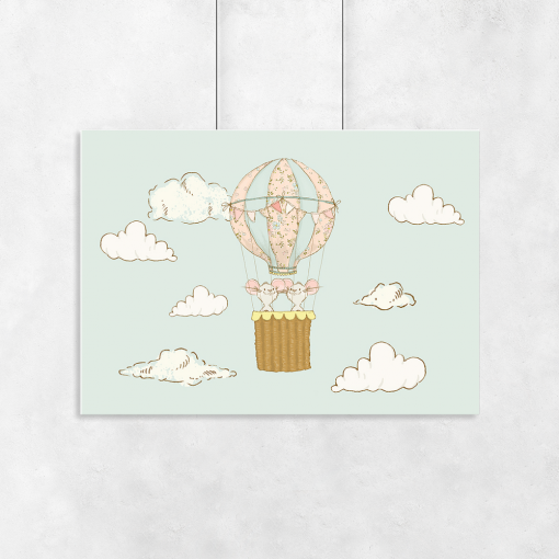 myszki w balonie jako motyw