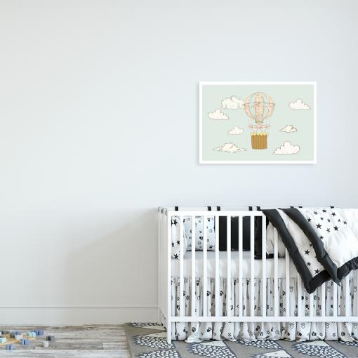 myszki w balonie w pokoju dziecka