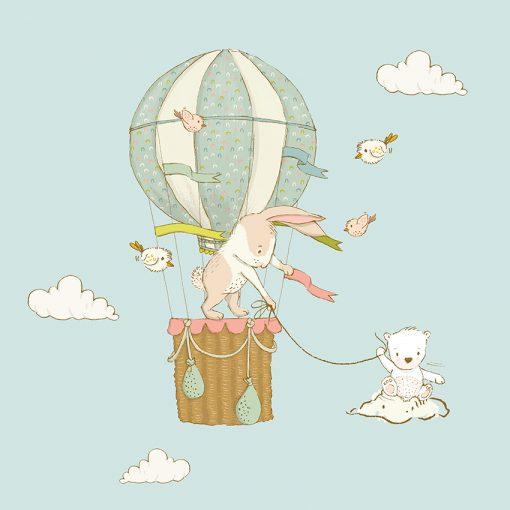 tapeta z królikami i balonem