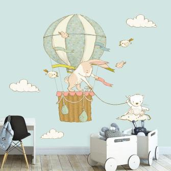 balon z królikami