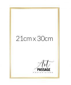 Złota ramka na plakat 21x30