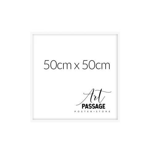 Biała rama na plakat 50x50