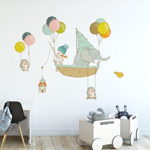 Naklejka ścienna z balonikami