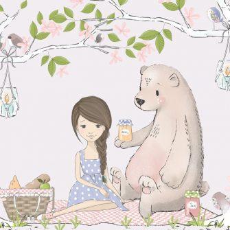 Tapeta drzewa i piknik