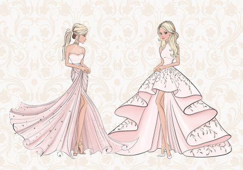 Fototapeta eleganckie suknie