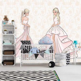 Fototapeta lalki w sukniach
