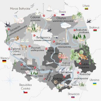 Tapeta województwa Polski