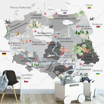 Tapeta z polską mapą